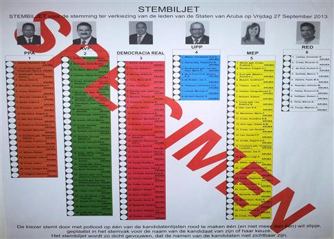 Specimen Stembiljet